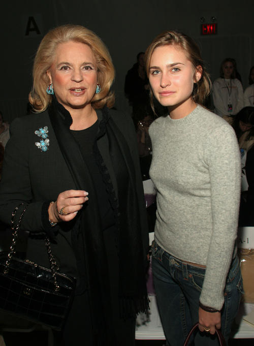 Ira Furstenberg and Lauren Bush at the Atil Kutoglu Fall 2005 show during the Olympus Fashion Week.
