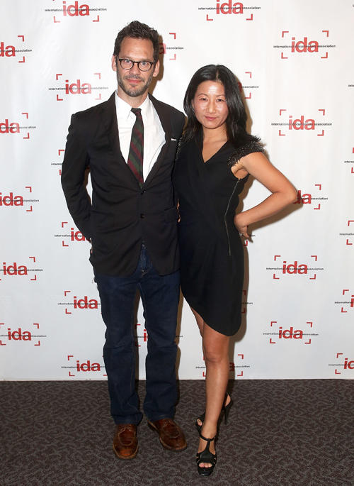 Christopher Gartin and Unjoo Moon at the International Documentary Association's 2012 IDA Documentary Awards in California.