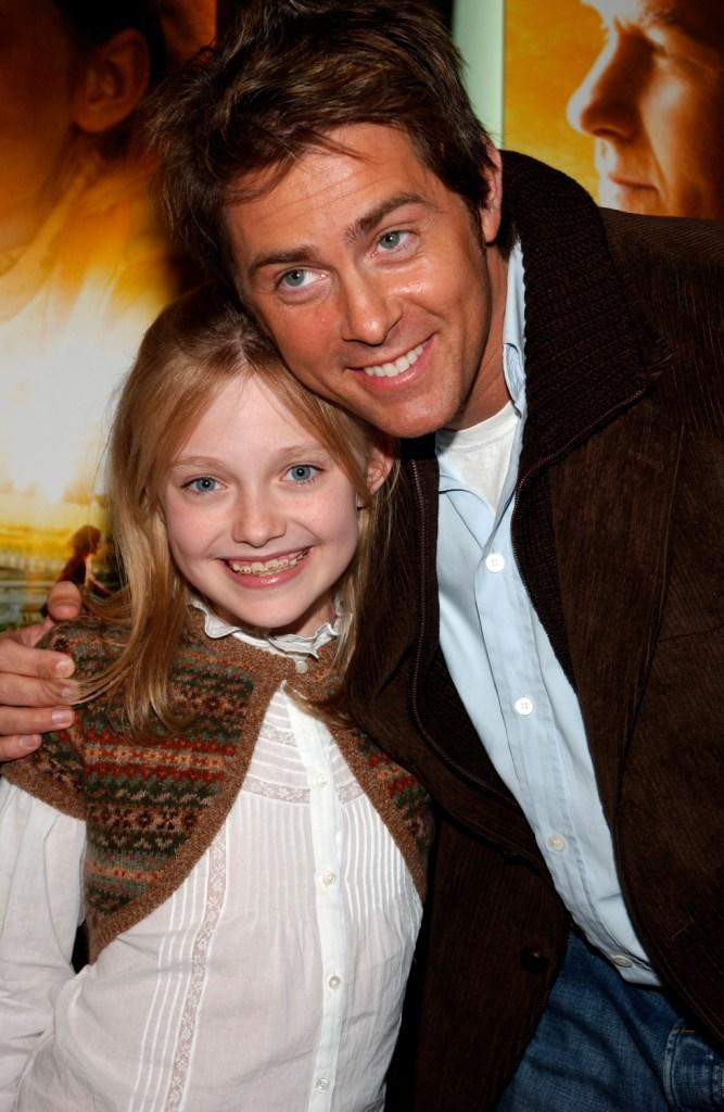Dakota Fanning and John Gatins at the screening of