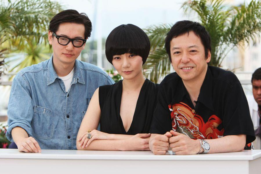 Arata, Bae Doo-Na and Itsuji Itao at the 62nd International Cannes Film Festival.