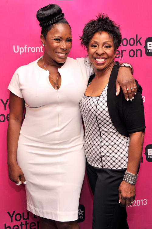Sommore and Gladys Knight at the BET Networks 2013 New York Upfront.
