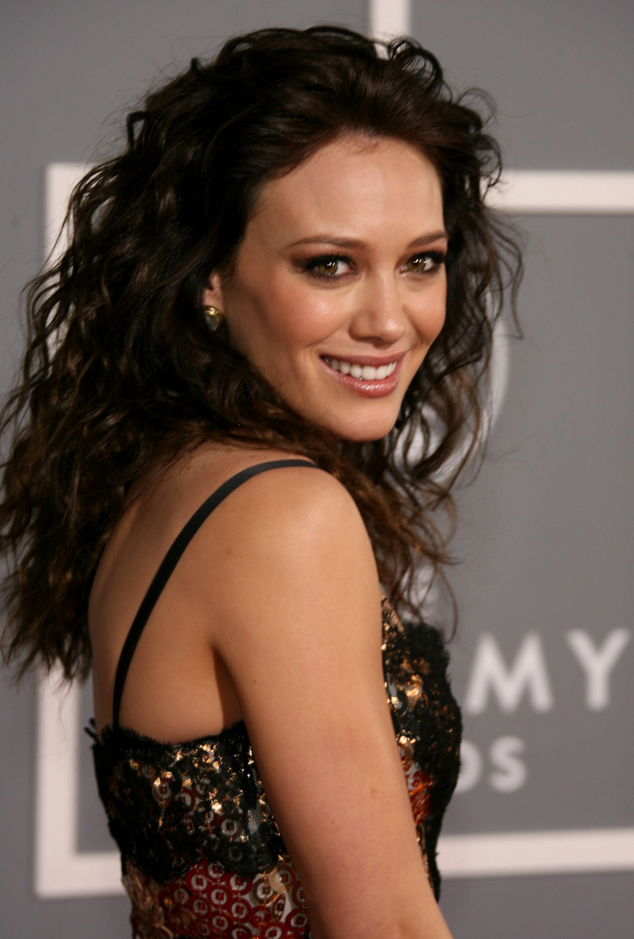 Hilary Duff at the 49th Annual Grammy Awards in Los Angeles, California.