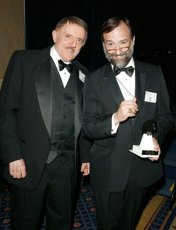John Astin and Hal Poe at the Mystery Writers of America 57th Annual Edgar Awards.