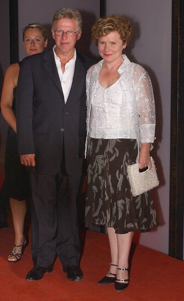 Phil Davis and Imelda Staunton at the premiere of