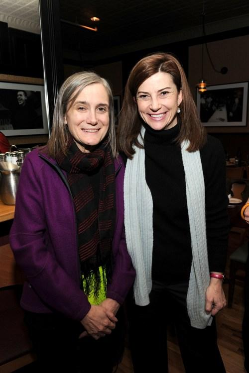 Amy Goodman and Guest at the Skoll opening dinner during the 2010 Sundance Film Festival.