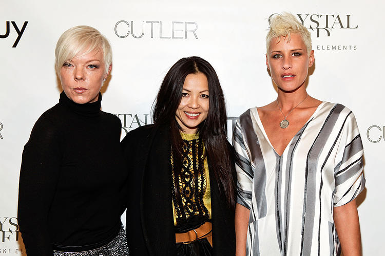 TV personality Tabatha Coffey, designer Thuy Diep and Eve Salvail at the Thuy New York Fall 2010 show during the Mercedes-Benz Fashion Week.