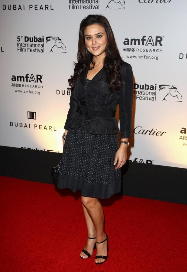 Preity Zinta at the 2nd Annual amfAR Cinema Against AIDS Dubai Gala.