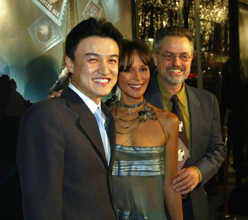 Park Joong-Hoon, Christine Boisson and Jonathan Demme at the premiere of