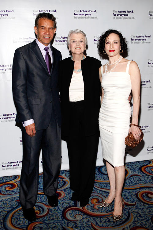 Brian Stokes Mitchell, Angela Lansbury and Bebe Neuwirth at the Actors Fund Gala in New York.