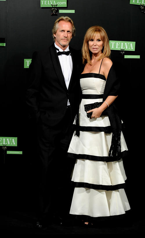 Hoyt Richards and Lara Dibildos at the 2009 TELVA Fashion Awards in Spain.
