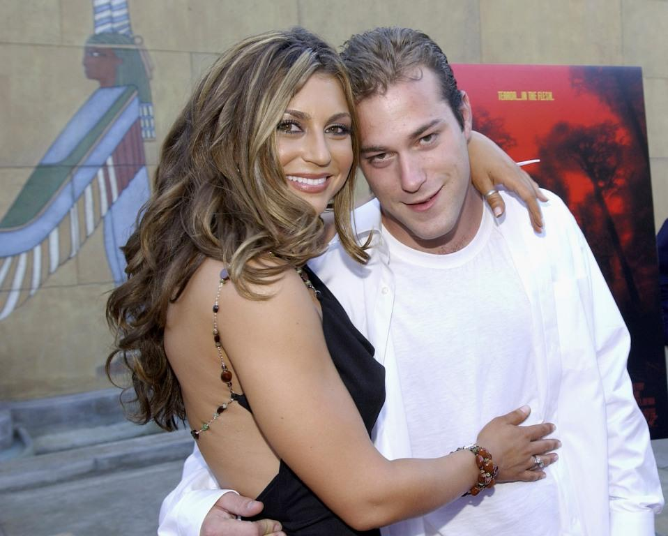 Cerina Vincent and James DeBello at the Los Angeles premiere of