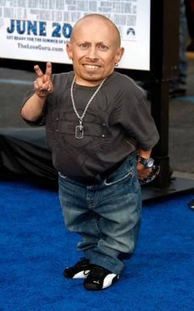 Verne Troyer at the California premiere of