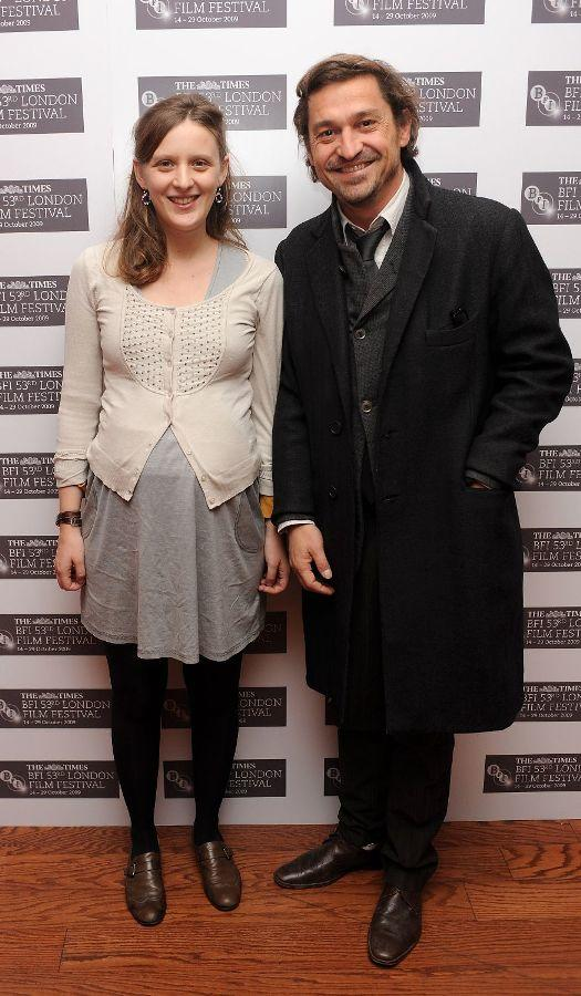 Director Mia Hansen-Love and Louis-Dominique de Lencquesaing at the premiere of