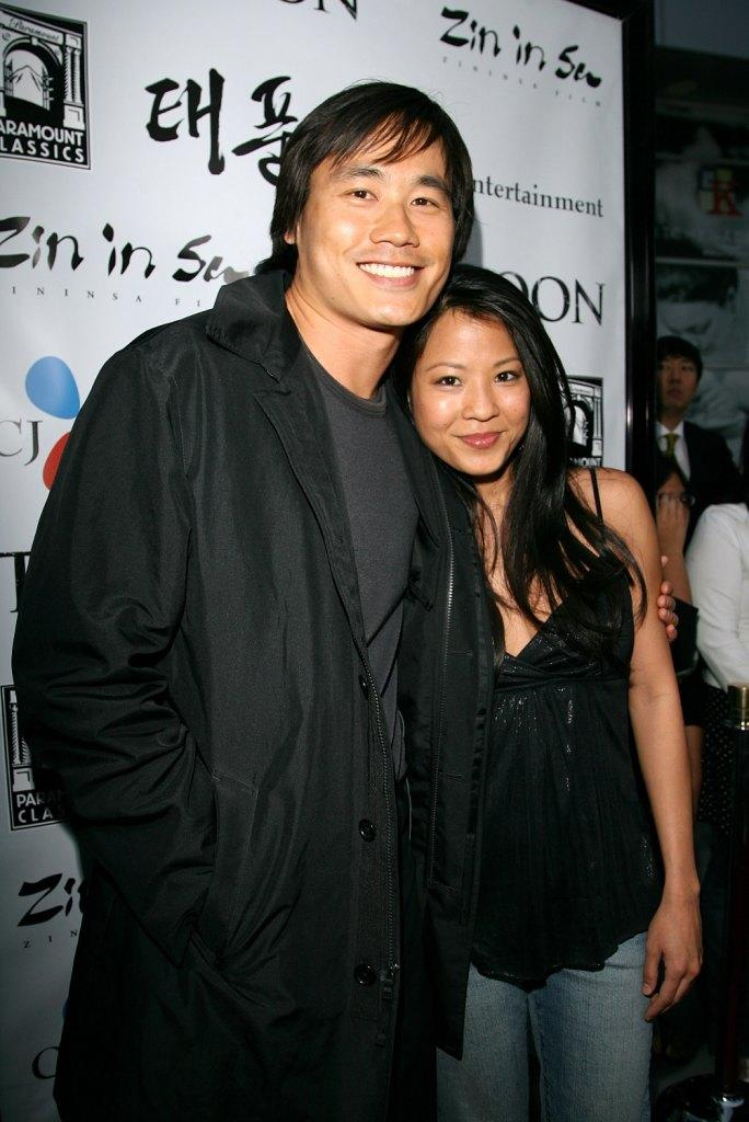 Roger Fan and Karin Anna Cheung at the California premiere of