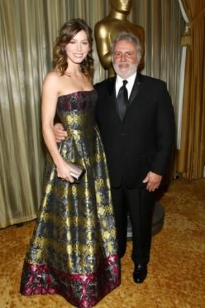 Jessica Biel and Sid Ganis at the AMPAS' Scientific and Technical Awards Dinner.