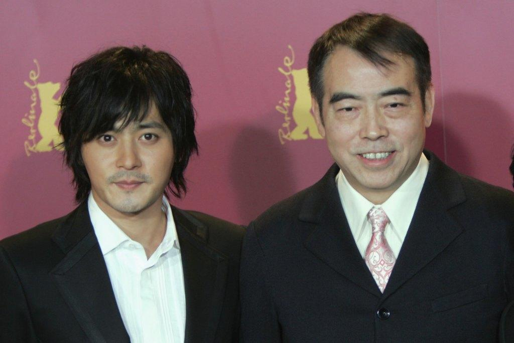 Jang Dong-gun and Chen Kaige at the photocall of