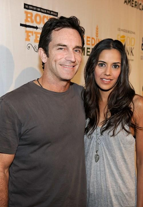 Jeff Probst and Sheetal Sheth at the Rock A Little, Feed Alot benefit concert.