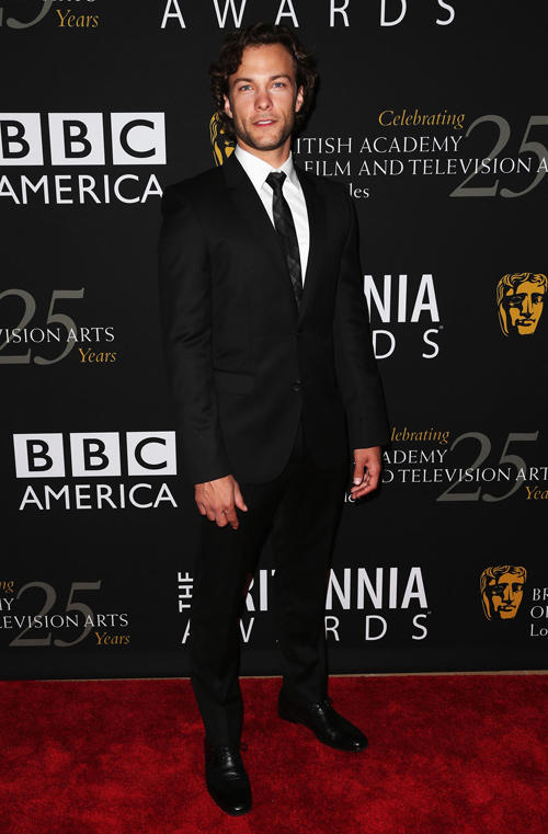 Kyle Schmid at the 2012 BAFTA Los Angeles Britannia Awards in California.