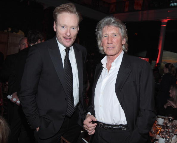 Conan O'Brien and Roger Waters at the Museum Gala 2007.