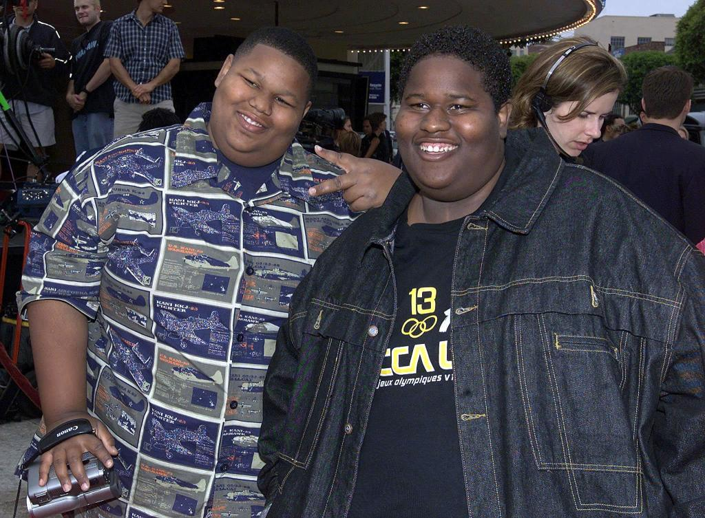 Jamal Mixon and his brother Jerod at the premiere of