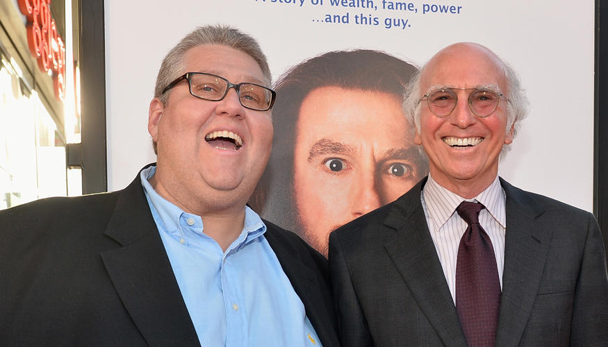 David Mandel and Larry David at the California premiere of