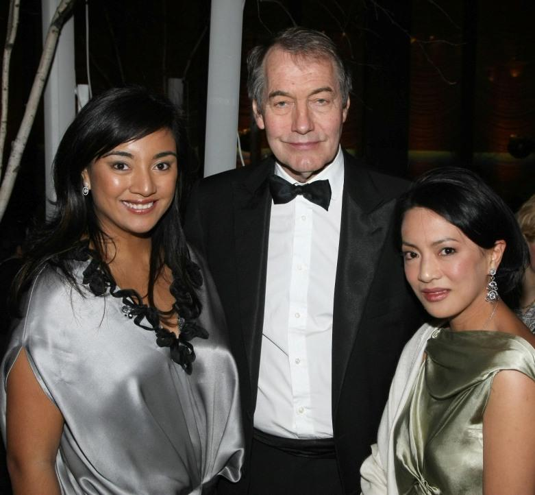 Tunku Myra Madihah, Charlie Rose and Nicole Yap at the Earth Awards Gala.
