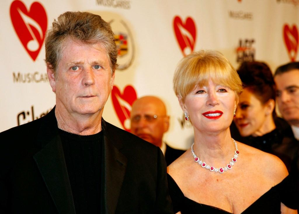 Brian Wilson and Melinda Wilson at the 2007 MusiCares Person of the Year.