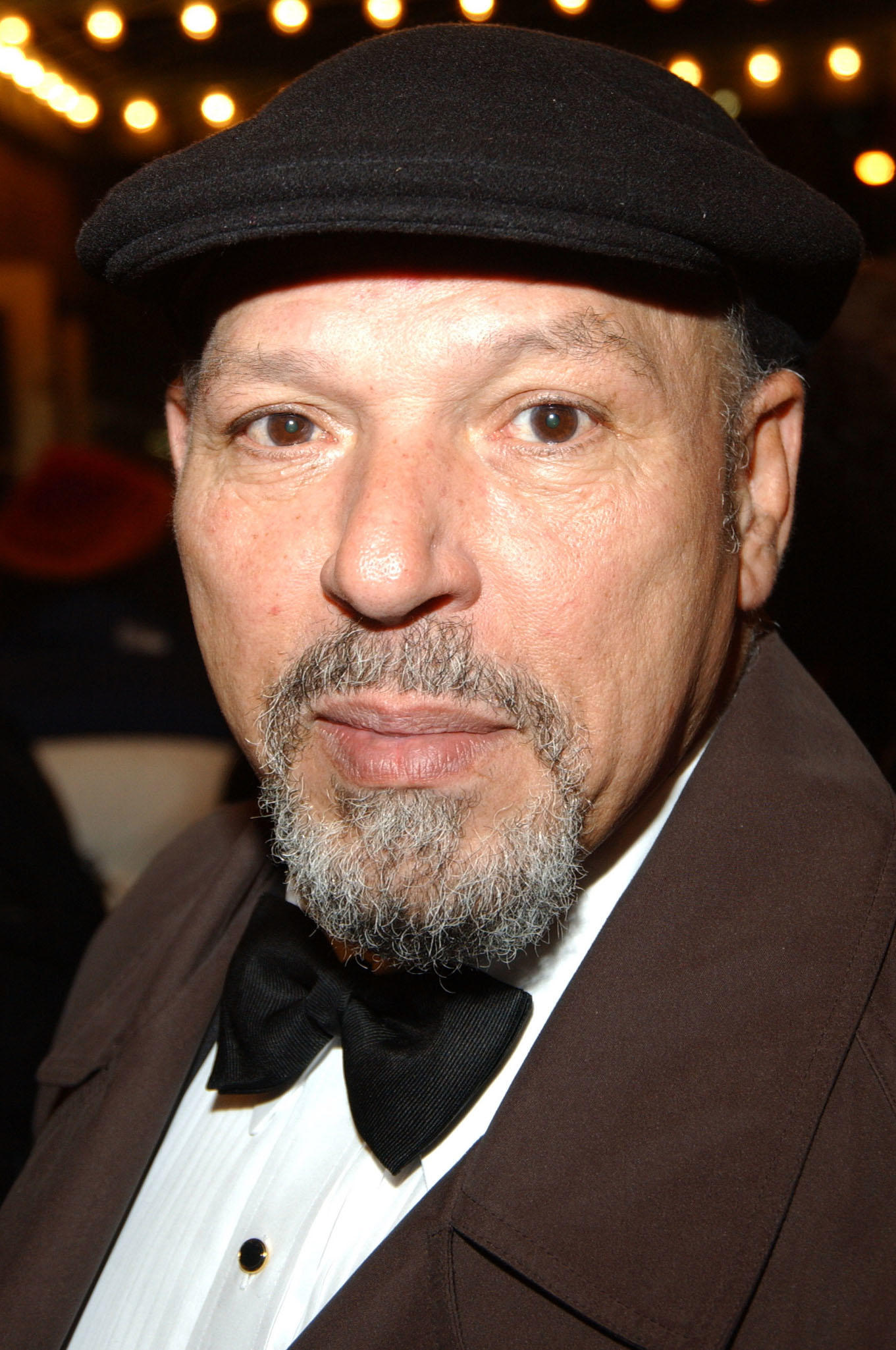 August Wilson at the opening of