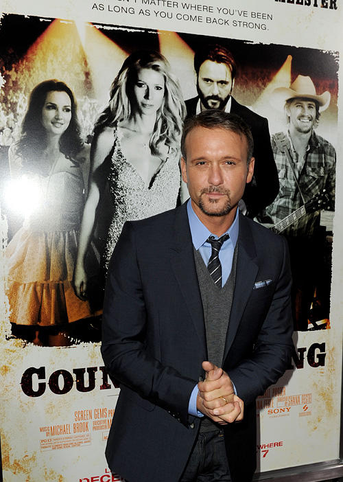 Tim McGraw at the California premiere of