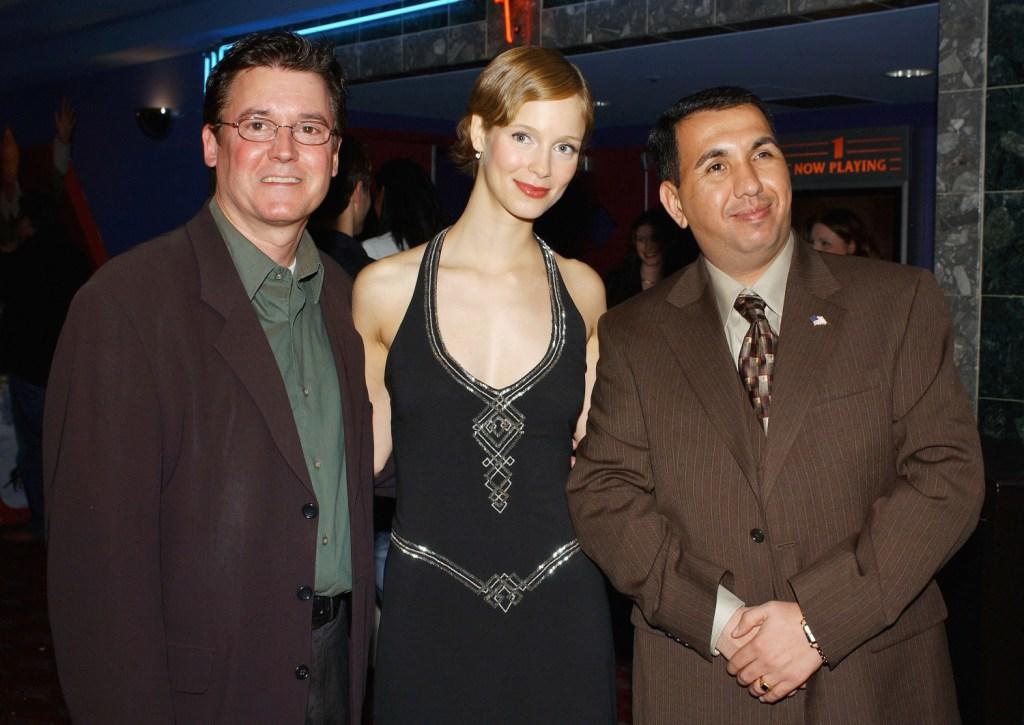 Bob Chmiel, Laura Regan and Mohammed al-Rehaief at the world premiere screening of