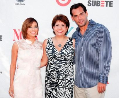 Eva Longoria Parker, Janet Murguia and Cristian de la Fuente at the 2008 ALMA Awards nominee announcements.
