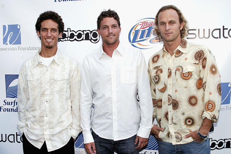 Rob Machado, John Rose and Keith Malloy at the Surfrider Foundation's 20th Anniversary Gala.