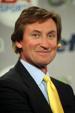 Hockey Hall of Famer Wayne Gretzky attends the Gillette - EA SPORTS Champions of Gaming Global Finals at ARENA Event Space on April 14, 2010 in New York City.