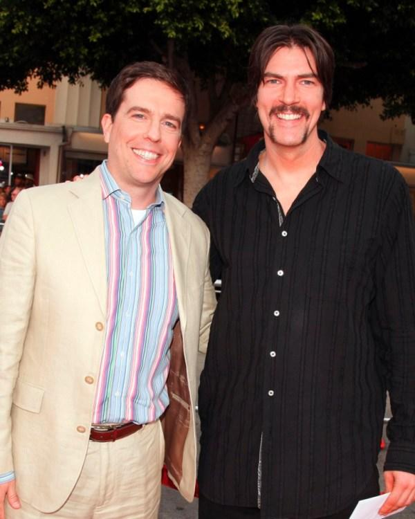 Ed Helms and Pat Kilbane at the premiere of