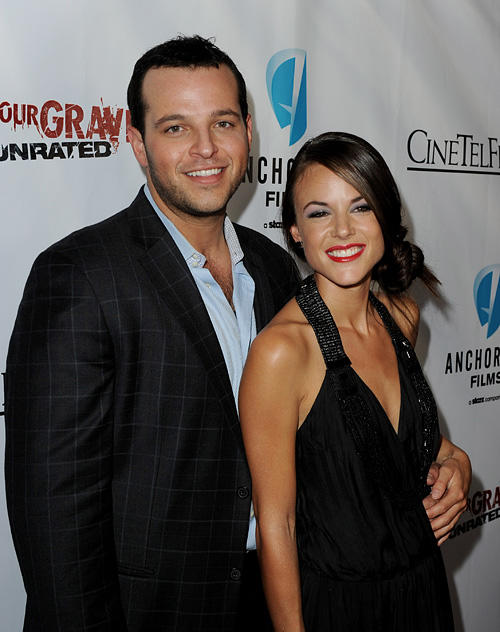 Daniel Franzese and Sarah Butle at the California premiere of