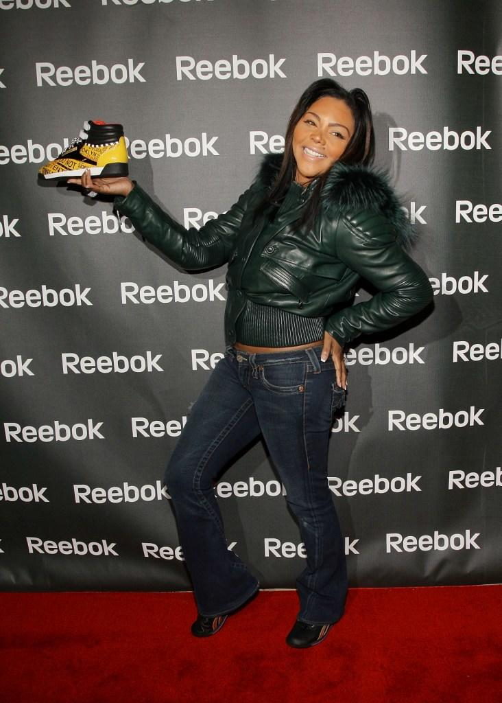 Lil' Kim at the Reebok