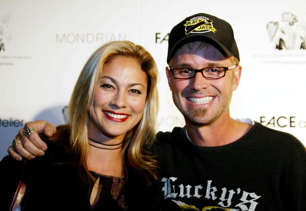 Meegan Naudin and George Gray at the party to celebrate the Elizabeth Glaser Pediatric AIDS Foundation's new partnership with Canadian cosmetic company FACE.