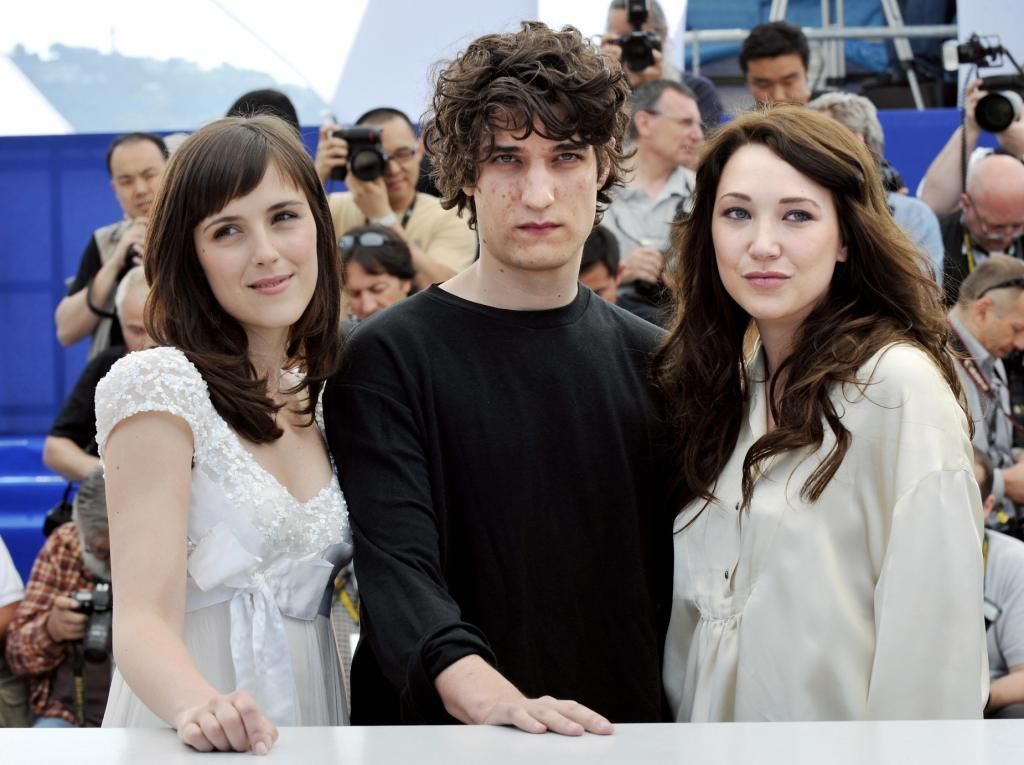 Clementine Poidatz, Louis Garrel and Laura Smet at the photocall of