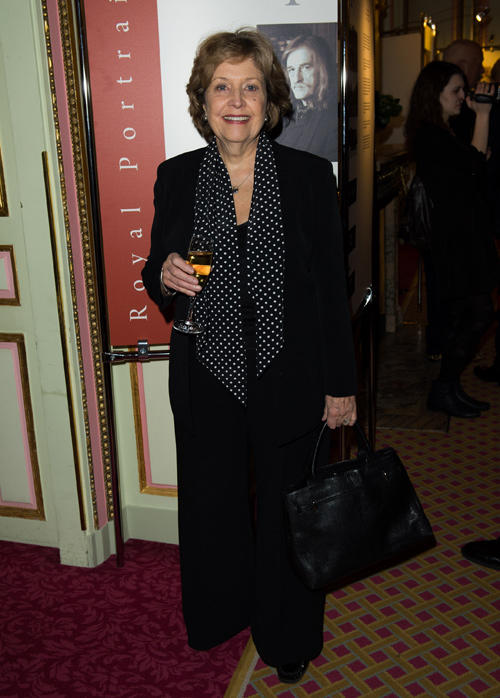Anne Reid at the Royal Portraits Exhibition in England.