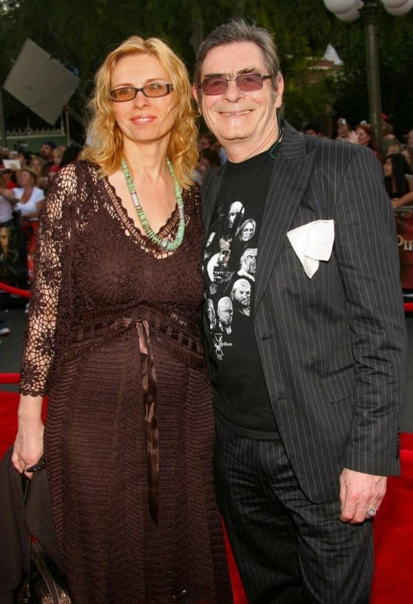 David Bailie and Guest at the premiere of