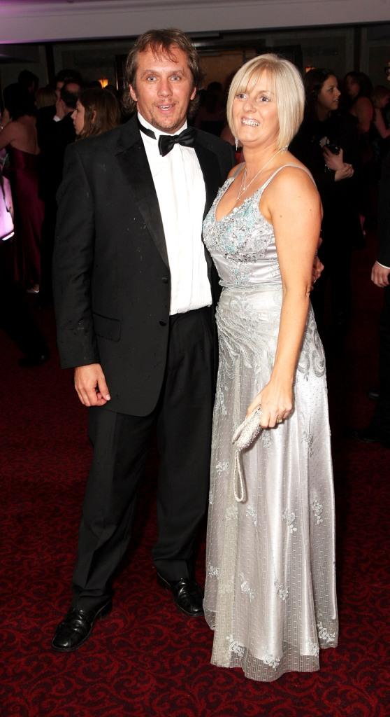 Dean Andrews and Guest at the after party of the British Academy Television Awards 2008.