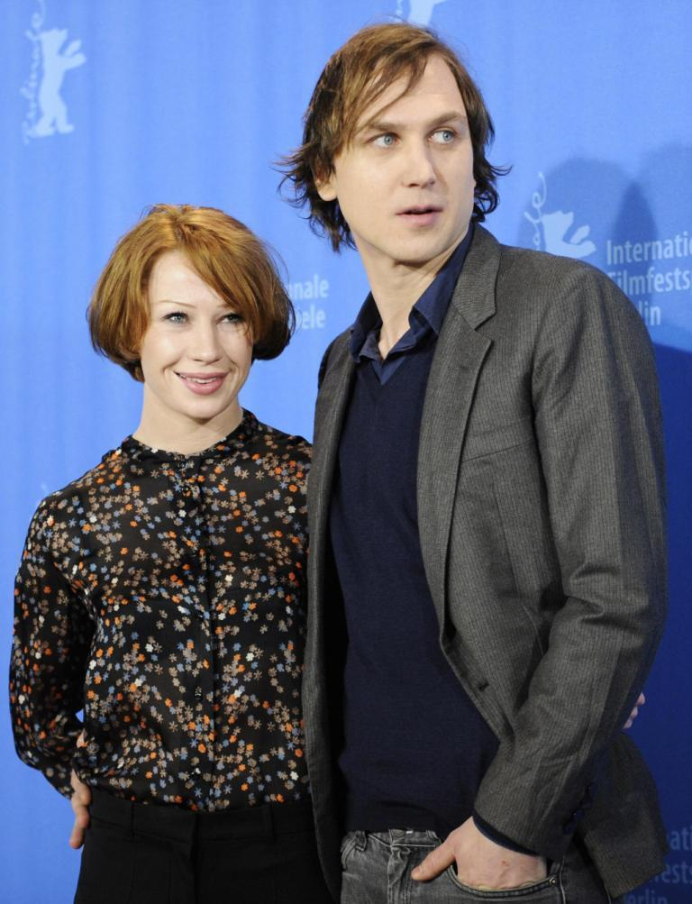 Birgit Minichmayr and Lars Eidinger at the photocall of