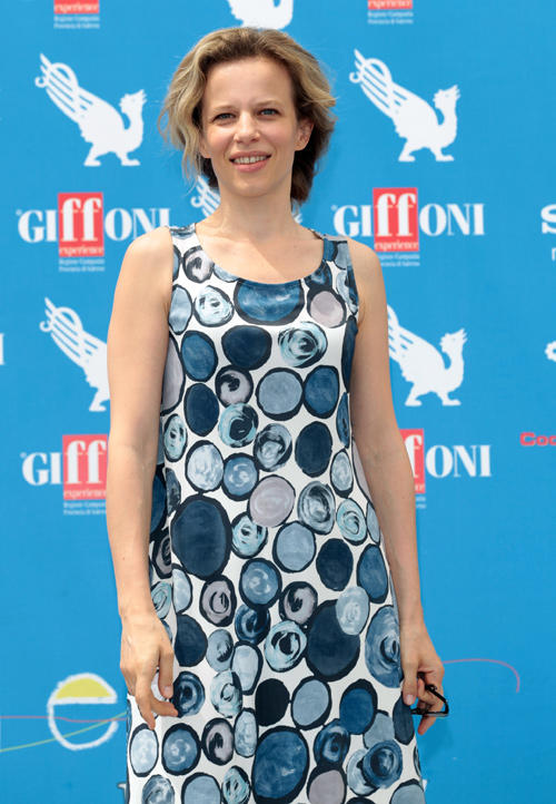 Sonia Bergamasco at the 2012 Giffoni Film Festival photocall.
