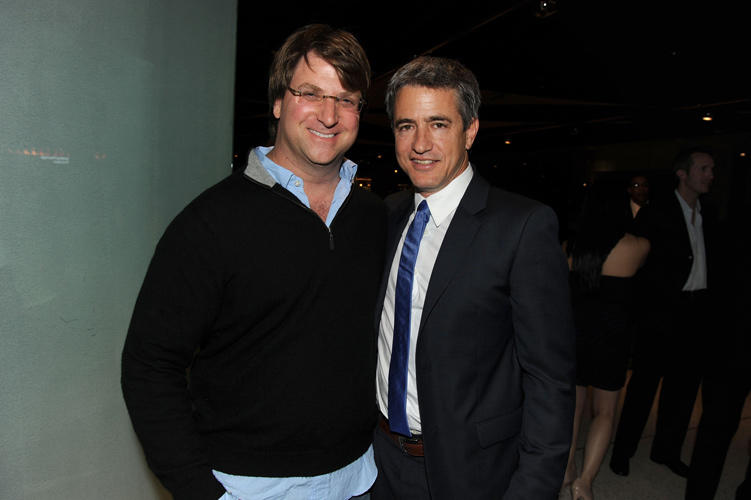 Michael Arata and Dermot Mulroney at the California premiere of