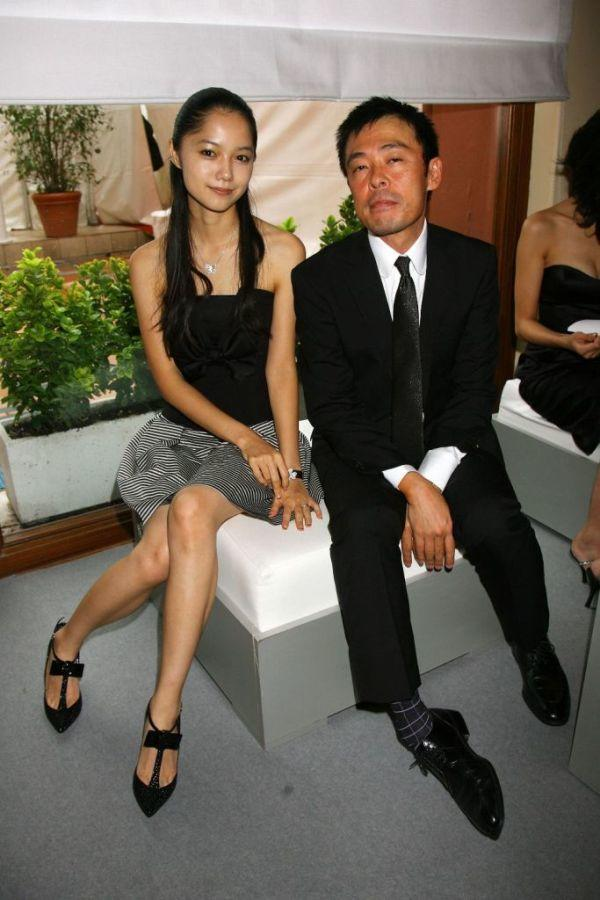 Aoi Miyazaki and Ken Mitsuishi at the 64th Annual Venice Film Festival.