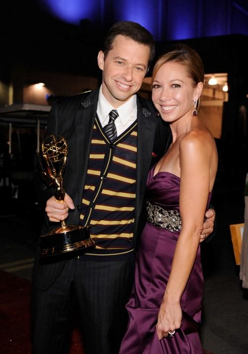Jon Cryer and Lisa Joyner at the 61st Primetime Emmy Awards.