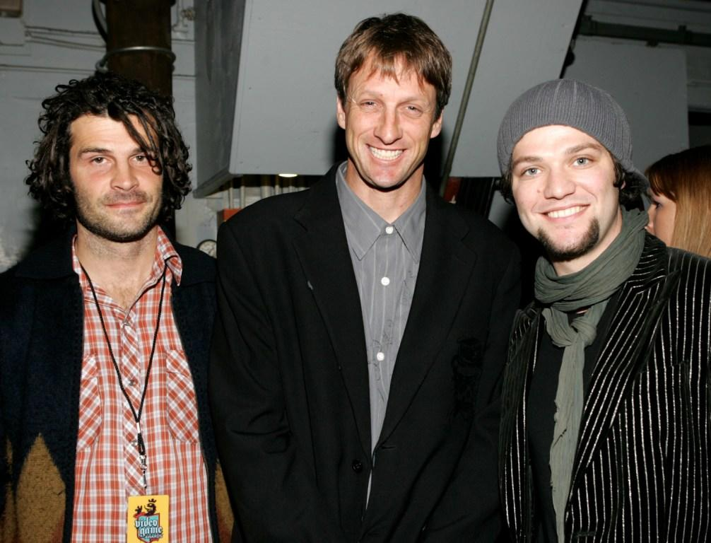 Matt Hoffman, Pro Skaters Tony Hawk and Bam Margera at the 2004 Spike TV Video Game Awards.