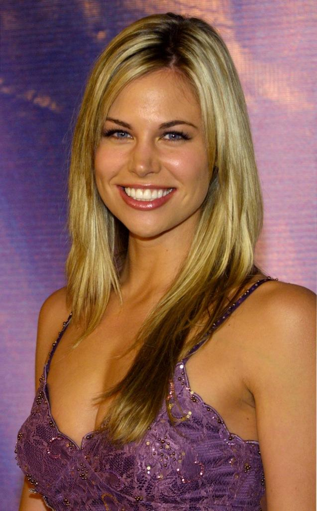 Brooke Burns at the NBC All-Star Party.