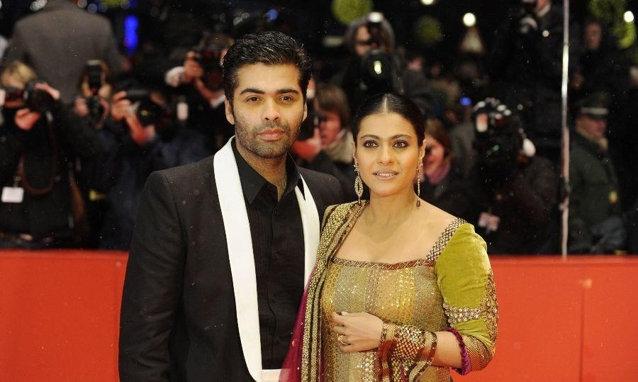 Karan Johar and Kajol at the Berlin premiere of