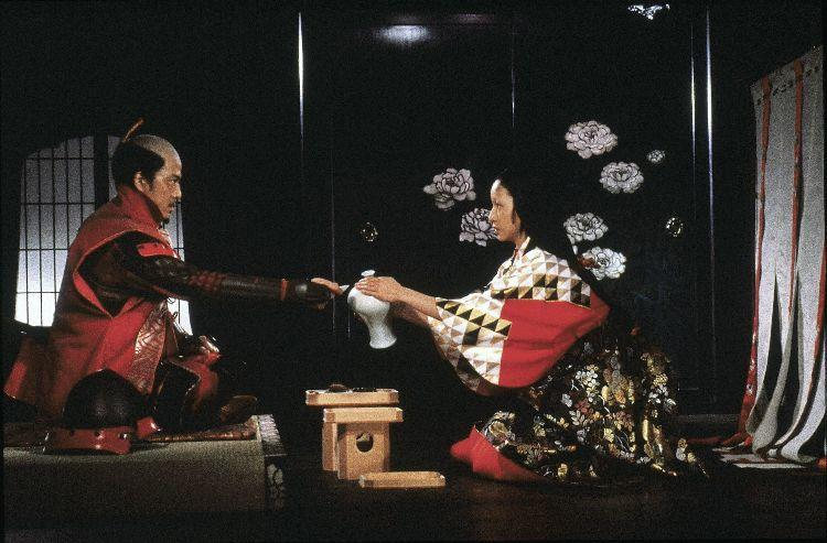 Jinpachi Nezu as Jiromasatora Ichimonji and Mieko Harada as Lady Kaede in